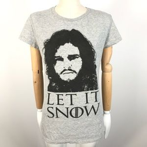 Let It Snow Game Of Thrones T-Shirt